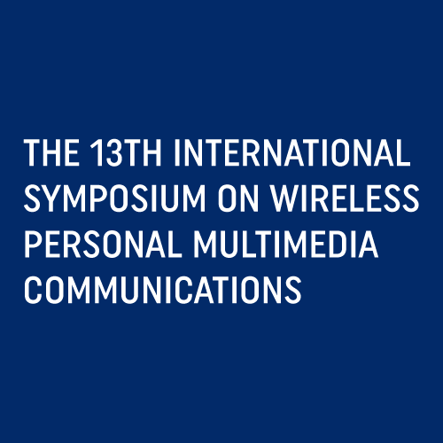 WPMC 2010 – THE 13TH INTERNATIONAL SYMPOSIUM ON WIRELESS PERSONAL MULTIMEDIA COMMUNICATIONS