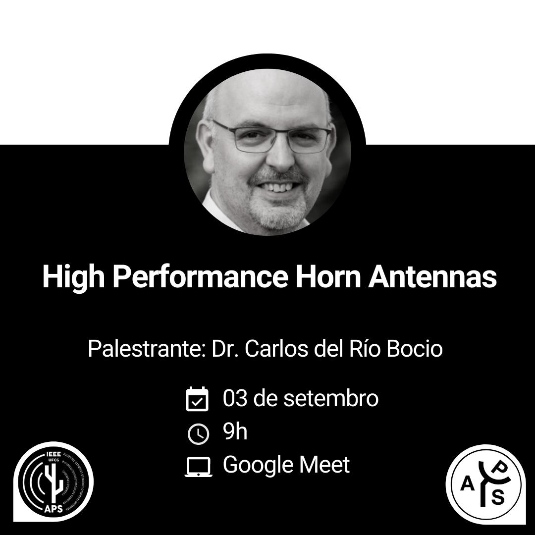 """Palestra """"High Performance Horn Antennas"""" por Carlos del Río Bocio"""